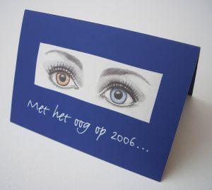 Nieuwjaarskaart ogen