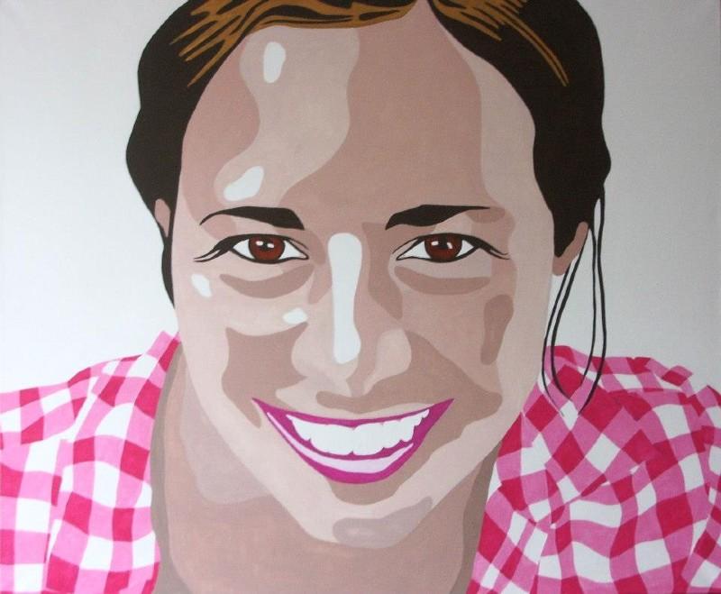 Pop-art portret Laura 800x659
