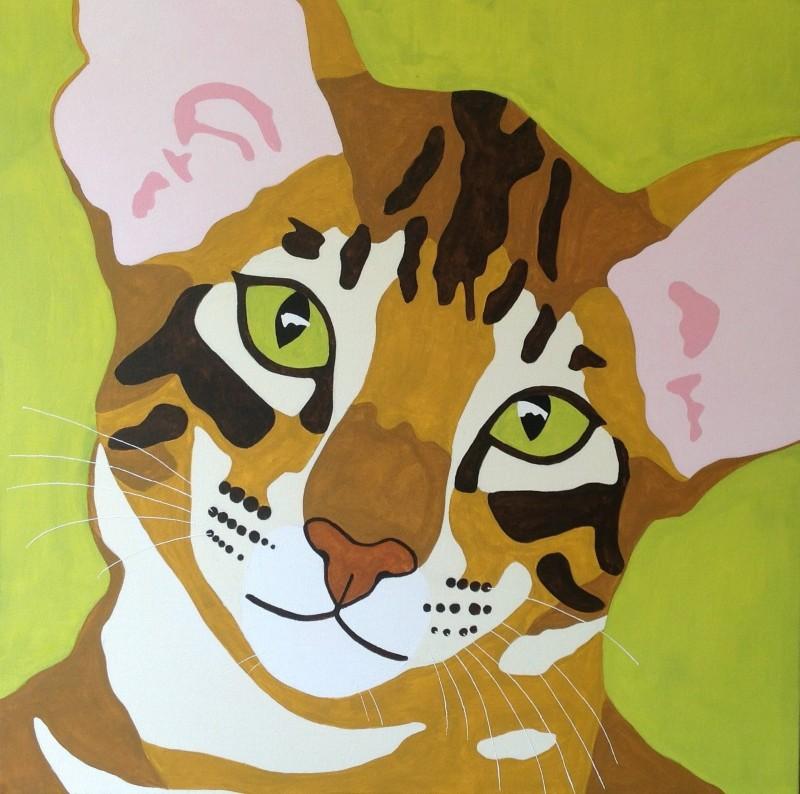Pop-art portret Sammie 800x794