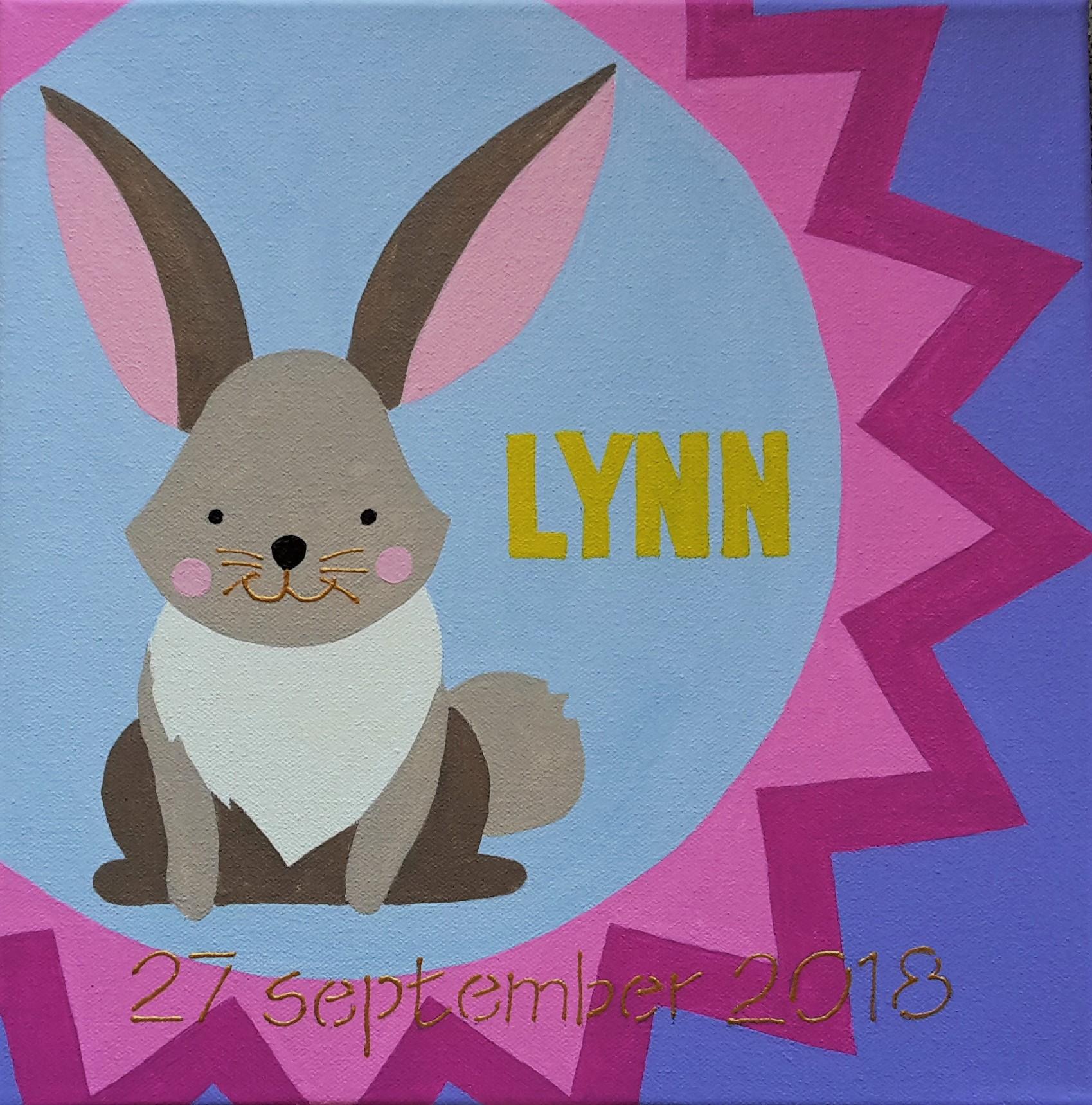 Lynn geboorteschilderij