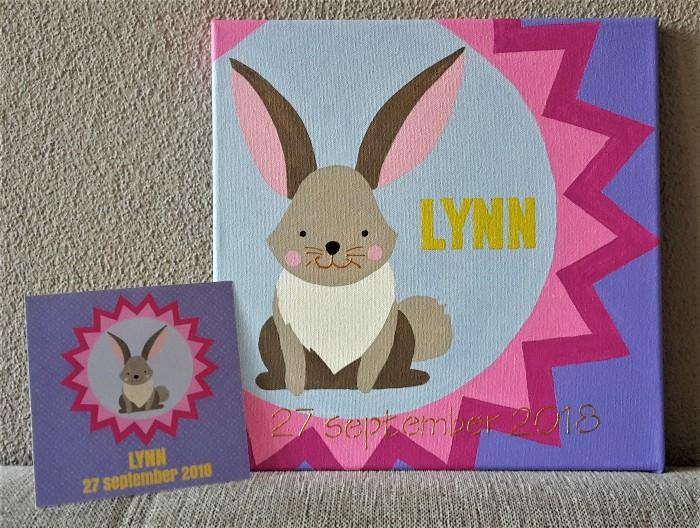 Lynn schilderij en kaartje 700x528